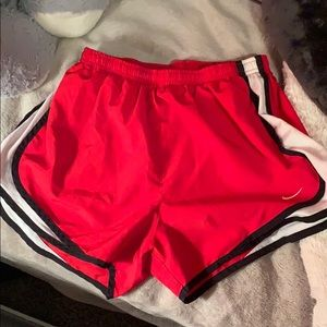 Red Nike Shorts. Size M.